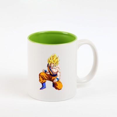 Huppme Goku Dragon Ball Z Inner Green  Ceramic Mug
