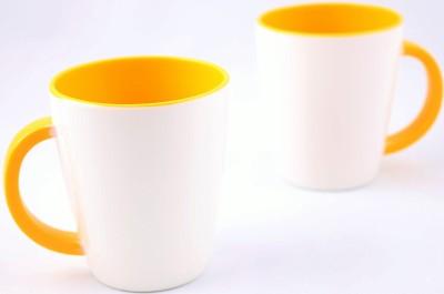 Hi Luxe Ivory Melamine 43052 Ivory - Yellow Melamine Mug