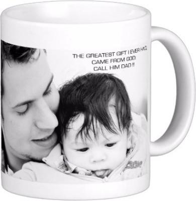 Exoctic Silver Father Dad Papa Baba Pitaji Abba x009 Ceramic Mug(300 ml)