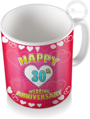 SKY TRENDS GIFT 30th Happy Wedding Anniversary Coffee  Ceramic Mug