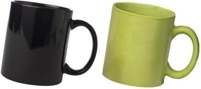 Snapgalaxy Black and Green Combo Pack 2pcs Ceramic Mug