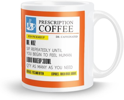 posterchacha PersonalizedPrescription Tea And Coffee  For Patient Name Nidz For Gift And Self Use Ceramic Mug