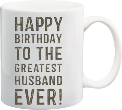 Awwsme Happy Birthday My Greatest Husband Ever Bone China Mug