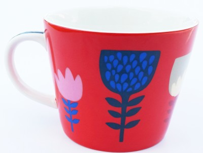 Peggy Oliver Red Flower Ceramic Mug