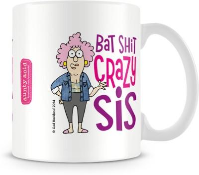 Tashanstreet Aunty Acid Bat Shit Crazy Sis Ceramic Mug