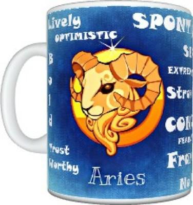 CreativesKart Zodiac Aries (F) Ceramic Mug