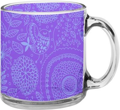meSleep Mauve Pattern Glass Mug