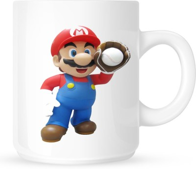 Huppme Super Mario White  Ceramic Mug