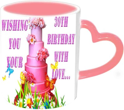 Jiya Creation1 Happy Birthday With love Multicolor Ceramic Mug