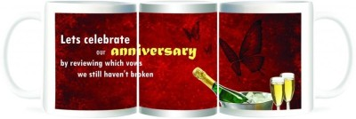 Refeel Gifts Lets Celebrate Our Anniversary Ceramic Mug