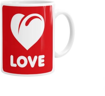 Hainaworld Limted Edition Red Love Coffee  Ceramic Mug