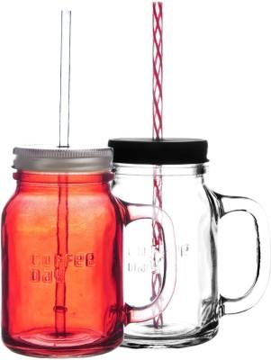 Cafe Coffee Day Mighty Mason Sipper Glass Mug