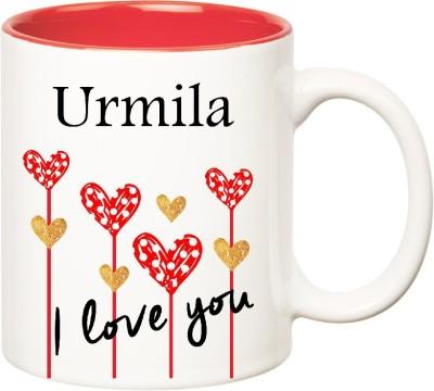 Huppme I Love You Urmila Inner Red  (350 ml) Ceramic Mug