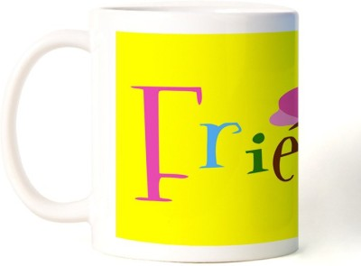 Rockmantra Friends Happy Friendship Day Ceramic Mug