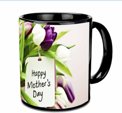 Jiya Creation1 Happy Mother,s day with blue Roses Multicolor Ceramic Mug