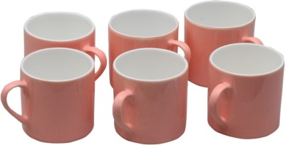 Potters Story Coffee And Tea  Set Of 6 For Couples (160 Ml & 6.5 Cm) Ceramic Mug