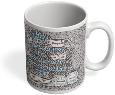 PosterGuy Life Is Like A Cuppa Tea Life, Sugar, Cupoftea, Tea, Sweet, Cherish Ceramic Mug
