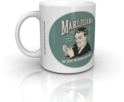 Bcreative Why Settle For Second Hand Smoke (Officially Licensed) Ceramic Mug