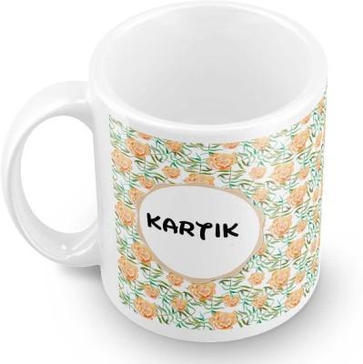 posterchacha Kartik Floral Design Name  Ceramic Mug