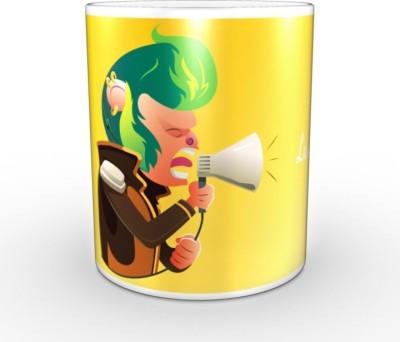 TheDesignJunction La_La_La Ceramic Mug