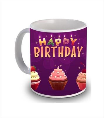 Print Hello Happy Birthday Cake b167 Ceramic Mug