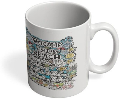 PosterGuy Why Go To The Beach Beach, Surf, Waves, Shells, Sand, Sea, Boats, Wild, Waves, Ceramic Mug