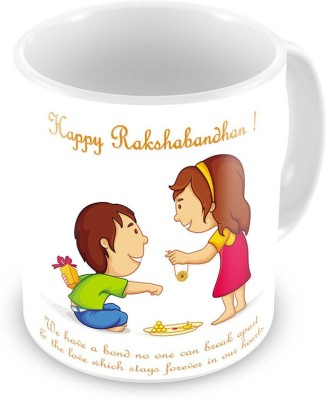 Indian Gift Emporium Happy Rakshabandhan Printed Design Delightful  521 Ceramic Mug