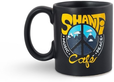 Happily Unmarried Shanti Cafe Coffee  Ceramic Mug