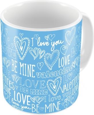 Indiangiftemporium Blue Designer Romantic Printed Coffee  709 Ceramic Mug
