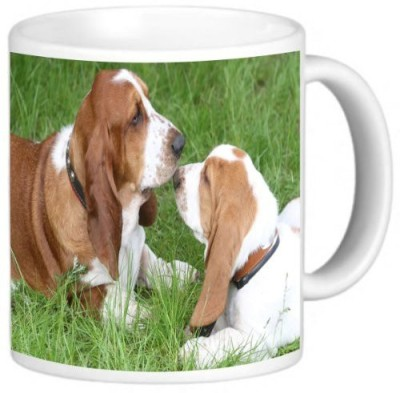 Rikki Knight LLC Knight Ceramic Coffee , Basset Hound Puppies Ceramic Mug
