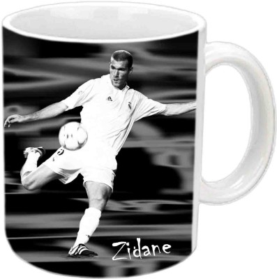 Jiya Creation1 Zidane White Ceramic Ceramic Mug