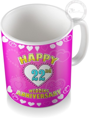 SKY TRENDS GIFT 22nd Happy Wedding Anniversary Coffee  Ceramic Mug