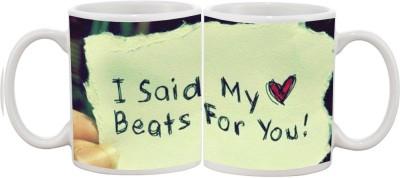 Goonlineshop My Heart Beats Ceramic Mug