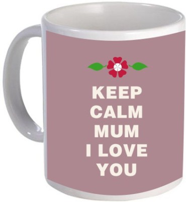 Giftsmate Keep Calm I Love You Mum Ceramic Mug