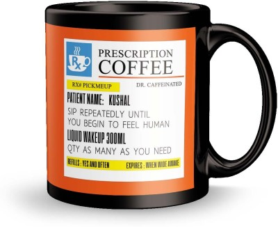 posterchacha PersonalizedPrescription Tea And Coffee  For Patient Name Kushal For Gift And Self Use Ceramic Mug