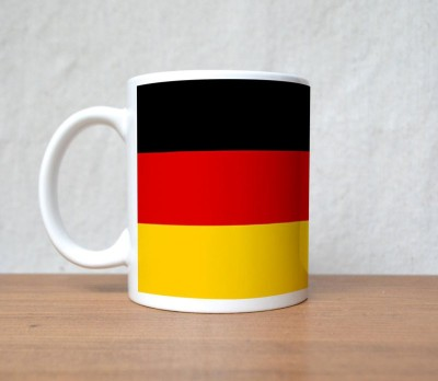 StyBuzz Germany Football Flag Team Porcelain Mug