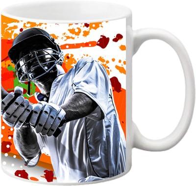 ezyPRNT Cricketer Sketch Ceramic Mug