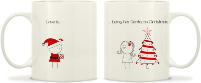 TwoGud Love Is Being Her Santa On Christmas Bone China Mug
