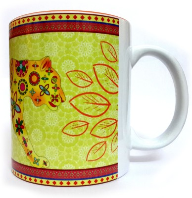 Indiavibes Printed Coffee Tea  With Tiger 1 Theme Ceramic Mug