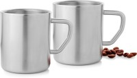 Mosaic Straight - Big Stainless Steel Mug(300 ml, Pack of 2)