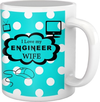 Tiedribbons I Love My Engineer Wife Coffee Ceramic Mug