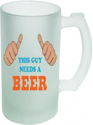 Shopmania Designer Beer-012 Glass Mug