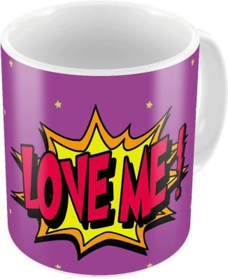 Indiangiftemporium Purple Designer Romantic Printed Coffee  723 Ceramic Mug