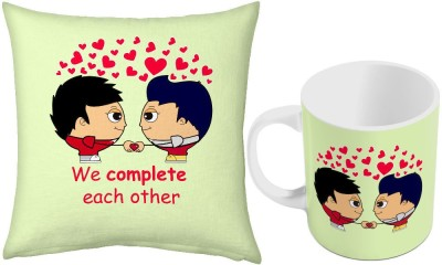 Little India Printed Coffee  n Filled Cushion Pair 396 Ceramic Mug