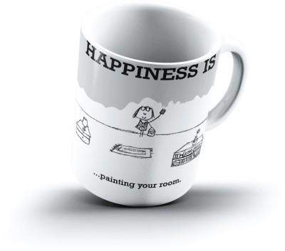 Ucard Happiness Is1103 Bone China, Ceramic, Porcelain Mug
