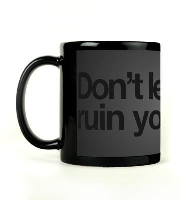AURRA PRINTED BLACK-733 Ceramic Mug