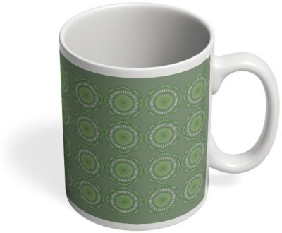 PosterGuy Green Flower Pattern (Green, Floral, Pattern, Colors, Seamless, Flowers, Light Green, Cool, Art, Flowerart, Wall, Design Ceramic Mug