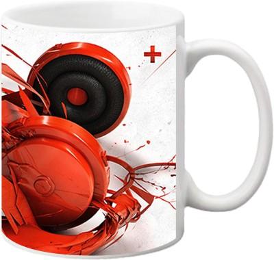 ezyPRNT Colourful Headphones Ceramic Mug