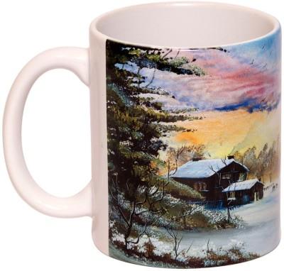 IMFPA Village in Winter Ceramic Mug