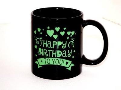 sunpower AURA ceramic black printed mug Ceramic Mug